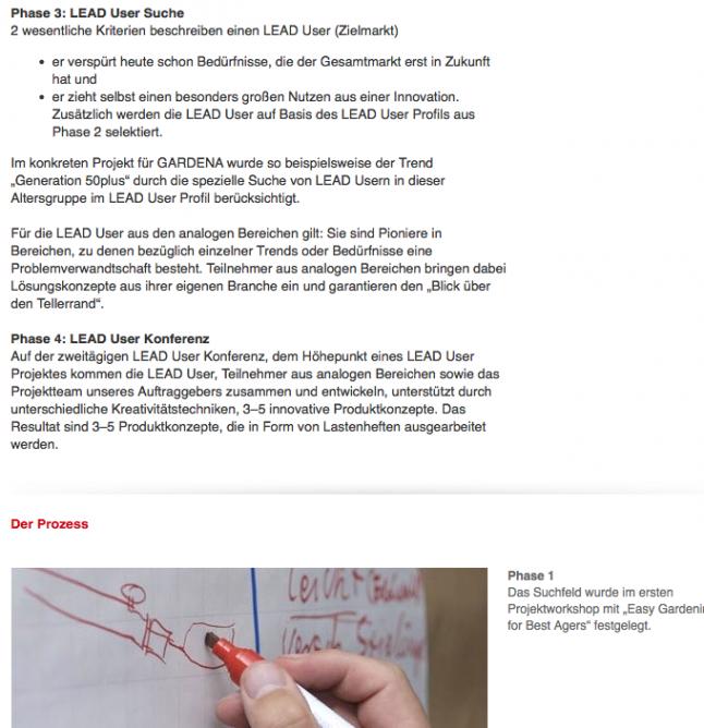 Screenshot einer Case Study von LEAD