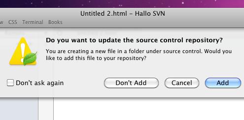 Datei zum Repository hinzufügen