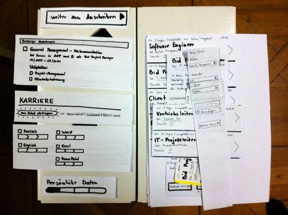 "Ablage des ""Computers"" bei Usability-Tests von Papier-Prototypen"