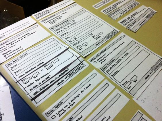 Photo von Papier-Prototypen