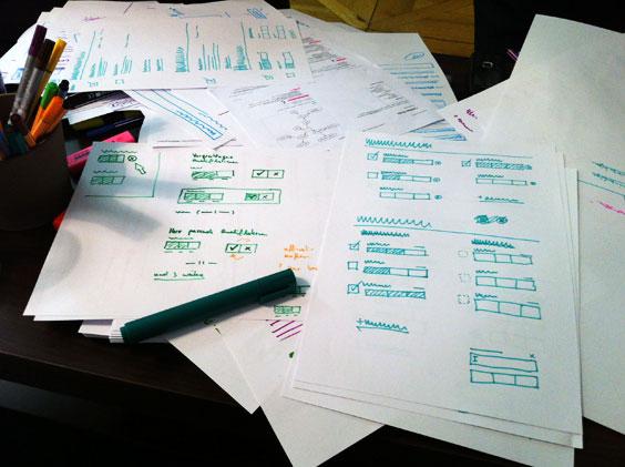 Skizzen eines User Interfaces