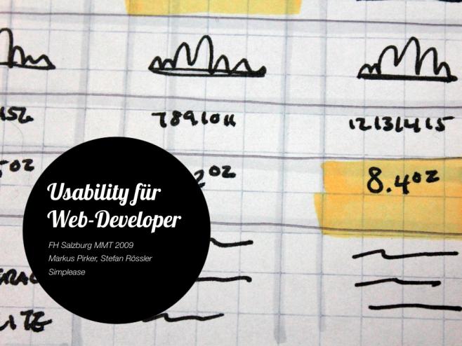 Workshop Usability für Web Developer an der FH Salzburg
